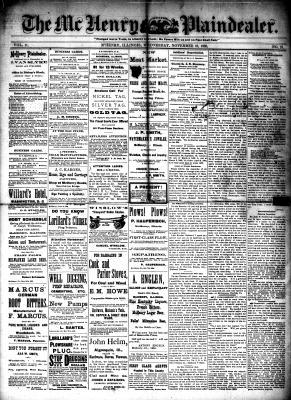 McHenry Plaindealer (McHenry, IL), 18 Nov 1885