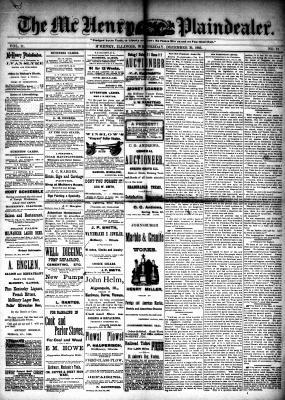 McHenry Plaindealer (McHenry, IL), 30 Dec 1885