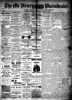 McHenry Plaindealer (McHenry, IL), 6 Jan 1886