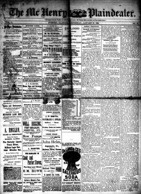 McHenry Plaindealer (McHenry, IL), 27 Jan 1886