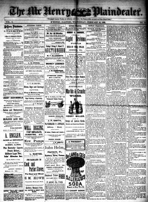 McHenry Plaindealer (McHenry, IL), 10 Feb 1886