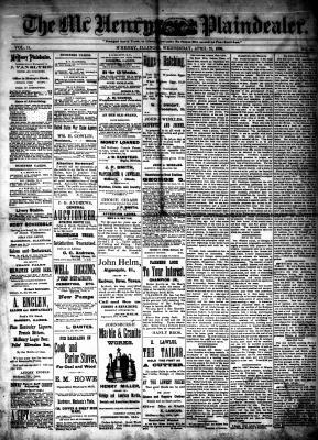 McHenry Plaindealer (McHenry, IL), 21 Apr 1886