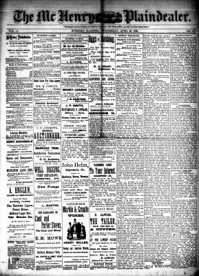 McHenry Plaindealer (McHenry, IL), 28 Apr 1886