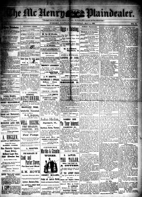 McHenry Plaindealer (McHenry, IL), 5 May 1886