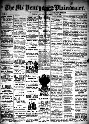 McHenry Plaindealer (McHenry, IL), 9 Jun 1886