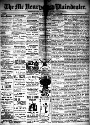McHenry Plaindealer (McHenry, IL), 16 Jun 1886