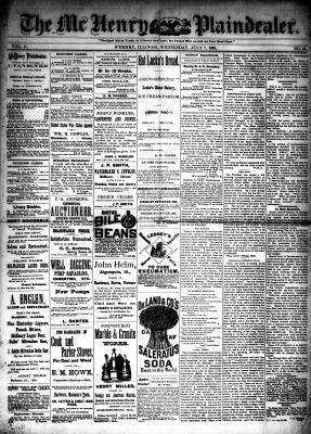 McHenry Plaindealer (McHenry, IL), 7 Jul 1886