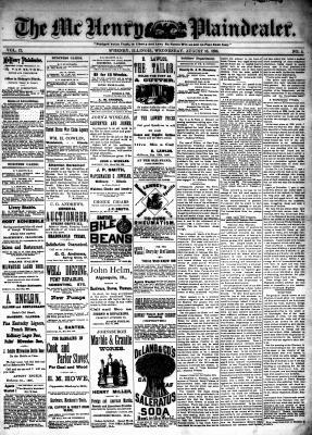 McHenry Plaindealer (McHenry, IL), 18 Aug 1886