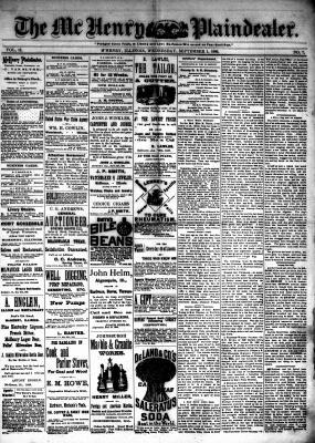 McHenry Plaindealer (McHenry, IL), 1 Sep 1886