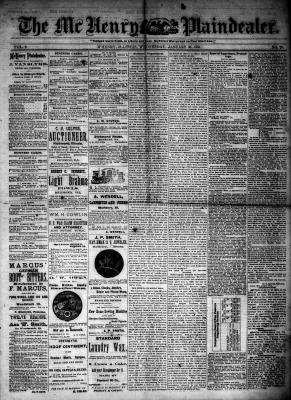 McHenry Plaindealer (McHenry, IL), 30 Jan 1884