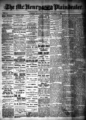 McHenry Plaindealer (McHenry, IL), 17 Nov 1886