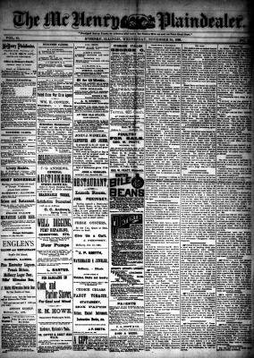 McHenry Plaindealer (McHenry, IL), 24 Nov 1886