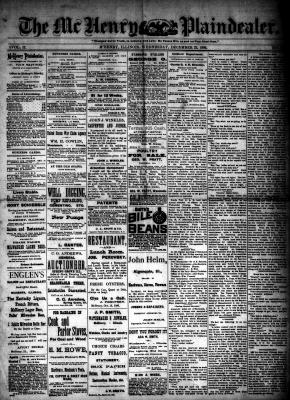 McHenry Plaindealer (McHenry, IL), 22 Dec 1886
