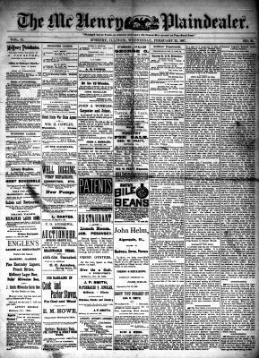 McHenry Plaindealer (McHenry, IL), 23 Feb 1887
