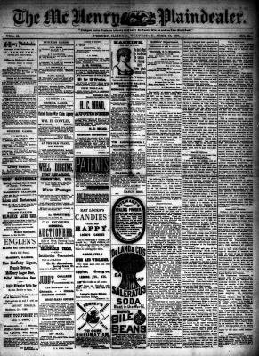 McHenry Plaindealer (McHenry, IL), 13 Apr 1887