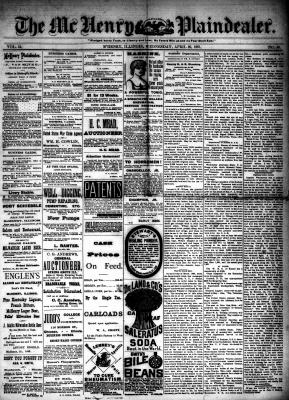 McHenry Plaindealer (McHenry, IL), 20 Apr 1887