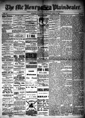 McHenry Plaindealer (McHenry, IL), 27 Apr 1887