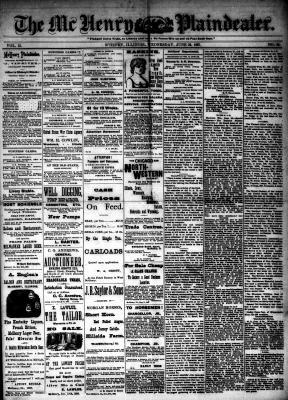 McHenry Plaindealer (McHenry, IL), 22 Jun 1887