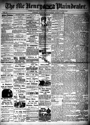 McHenry Plaindealer (McHenry, IL), 10 Aug 1887