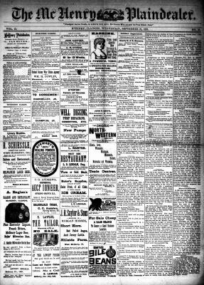 McHenry Plaindealer (McHenry, IL), 21 Sep 1887