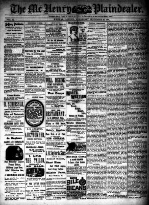 McHenry Plaindealer (McHenry, IL), 28 Sep 1887