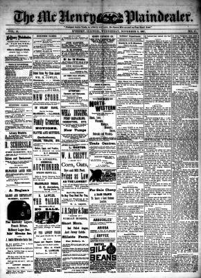 McHenry Plaindealer (McHenry, IL), 9 Nov 1887