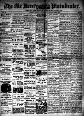 McHenry Plaindealer (McHenry, IL), 16 Nov 1887