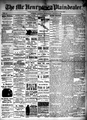 McHenry Plaindealer (McHenry, IL), 29 Aug 1888