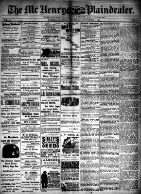 McHenry Plaindealer (McHenry, IL), 7 Nov 1888