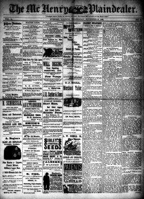 McHenry Plaindealer (McHenry, IL), 21 Nov 1888