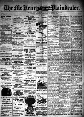McHenry Plaindealer (McHenry, IL), 10 Apr 1889