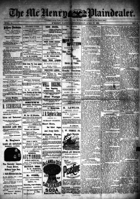 McHenry Plaindealer (McHenry, IL), 17 Apr 1889