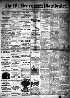 McHenry Plaindealer (McHenry, IL), 1 May 1889