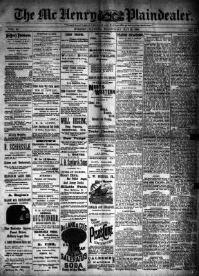 McHenry Plaindealer (McHenry, IL), 29 May 1889
