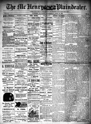 McHenry Plaindealer (McHenry, IL), 23 Apr 1890