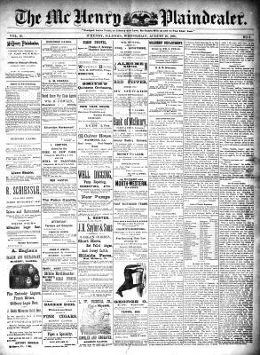 McHenry Plaindealer (McHenry, IL), 20 Aug 1890