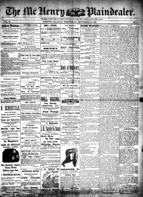 McHenry Plaindealer (McHenry, IL), 10 Sep 1890