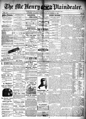 McHenry Plaindealer (McHenry, IL), 12 Nov 1890