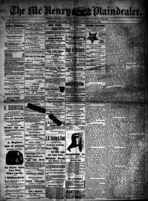 McHenry Plaindealer (McHenry, IL), 3 Dec 1890