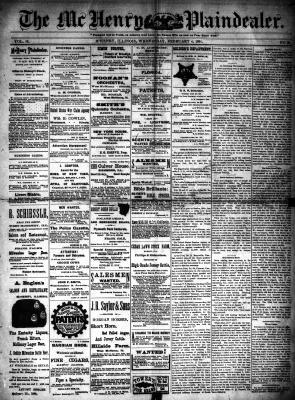 McHenry Plaindealer (McHenry, IL), 4 Feb 1891