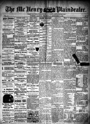 McHenry Plaindealer (McHenry, IL), 23 Sep 1891