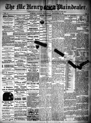 McHenry Plaindealer (McHenry, IL), 30 Sep 1891