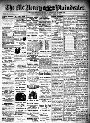 McHenry Plaindealer (McHenry, IL), 13 Apr 1892