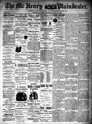 McHenry Plaindealer (McHenry, IL), 11 May 1892