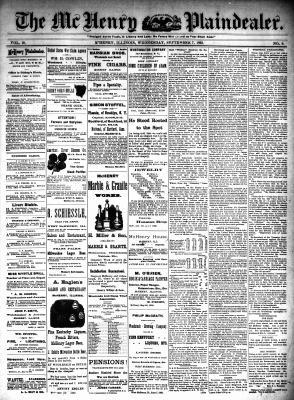McHenry Plaindealer (McHenry, IL), 7 Sep 1892