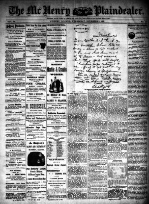 McHenry Plaindealer (McHenry, IL), 2 Nov 1892