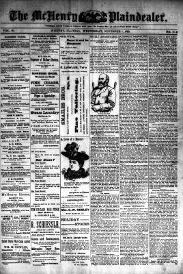 McHenry Plaindealer (McHenry, IL), 1 Nov 1893
