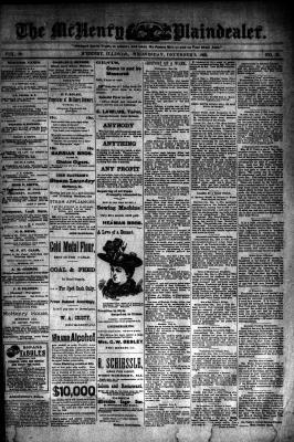McHenry Plaindealer (McHenry, IL), 6 Dec 1893