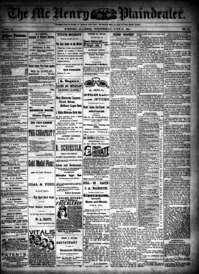 McHenry Plaindealer (McHenry, IL), 27 Jun 1894