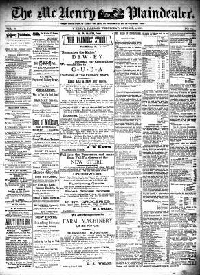 McHenry Plaindealer (McHenry, IL), 5 Oct 1898